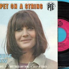 Discos de vinilo: SANDIE SHAW: PUPPET ON A STRING / TELL THE BOYS / I DON´T NEED ANYTHING / KEEP IN TOUCH. Lote 57020672