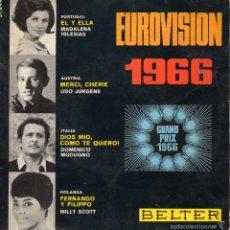 Discos de vinilo: EUROVISION 1966, EP, DOMENICO MODUGNO - DIOS MIO, COMO TE QUIERO + 3, AÑO 1966. Lote 57023632