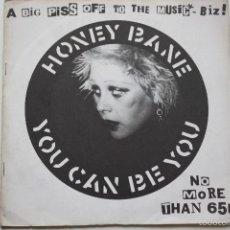 Discos de vinilo: HONEY BANE- YOU CAN BE YOU- UK SINGLE 1979.. Lote 57029206