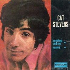 Discos de vinilo: CAT STEVENS, SG, MATTHEW AND SON + 1, AÑO 1966. Lote 57030368