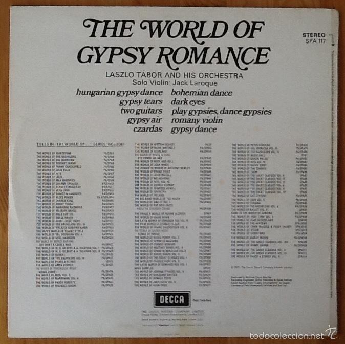 Discos de vinilo: LASZLO TABOR & HIS ORCHESTRA : THE WORLD OF GYPSY ROMANCE [UK 1967] - Foto 2 - 57041476