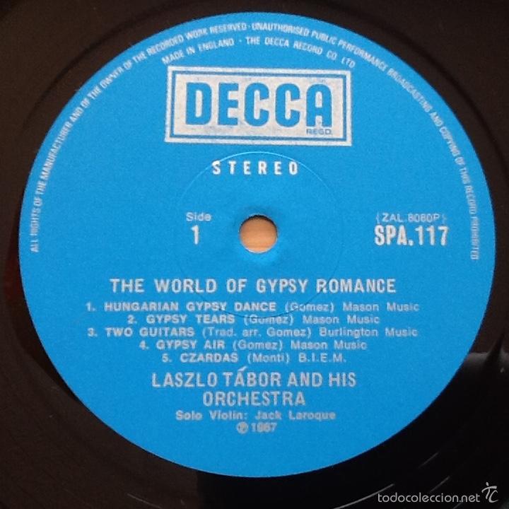 Discos de vinilo: LASZLO TABOR & HIS ORCHESTRA : THE WORLD OF GYPSY ROMANCE [UK 1967] - Foto 4 - 57041476