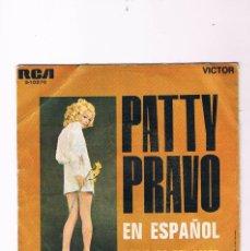 Discos de vinilo: DISCO VINILO PATTY PRAVO EN ESPAÑOL LOS OJOS DEL AMOR SENTIMIENTO RCA. Lote 57041829