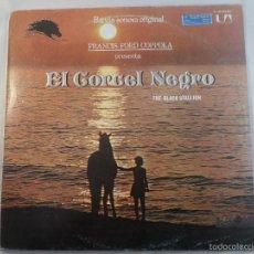 Discos de vinilo: LP BSO EL CORCEL NEGRO ( THE BLACK STALLION). Lote 57045778