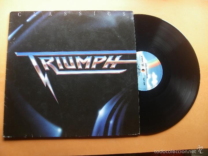 LP - TRIUMPH - CLASSICS - EDICION ALEMANA, MCA RECORDS 1989 PEPETO (Música - Discos - LP Vinilo - Heavy - Metal)