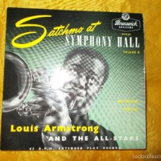 Discos de vinilo: LOUIS ARMSTRONG AND THE ALL-STARS. SATCHMO AT SYMPHONY HALL. VOL 6. EDICION INGLESA . IMPECABLE. Lote 57046797