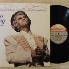 Discos de vinilo: ELTON JOHN YOUR SONG MAXI SINGLE VINYL LIVE IN AUSTRALIA MADE IN SPAIN 1987. Lote 57049324