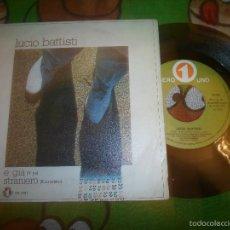 Discos de vinilo: LUCIO BATTISTI, E GIA, Y YA. Lote 108502236