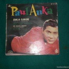 Discos de vinilo: EP PAUL ANKA - SOLO AMOR + 3 - HISPAVOX SPAIN 1960. Lote 57055752