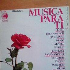 Discos de vinilo: MUSICA PARA TI. ORQUESTA FILARMONICA DE ALEMANIA DEL SUR. ORQUESTA DE LA OPERA POPULAR DE VIENA. Lote 57056797