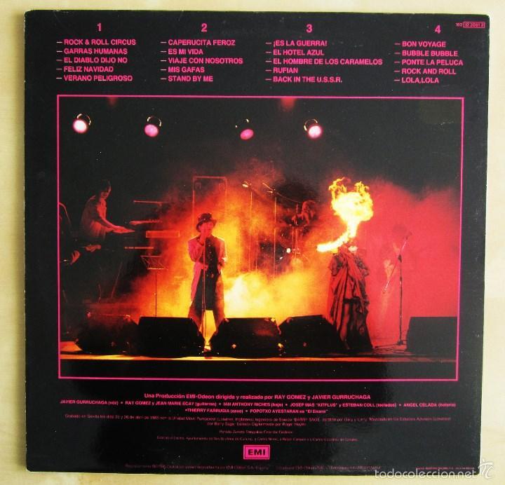 Discos de vinilo: ORQUESTA MONDRAGON - ROCK & ROLL CIRCUS - DOBLE ALBUM VINILO ORIGINAL PRIMERA EDICION EMI 1985 - Foto 3 - 57060018