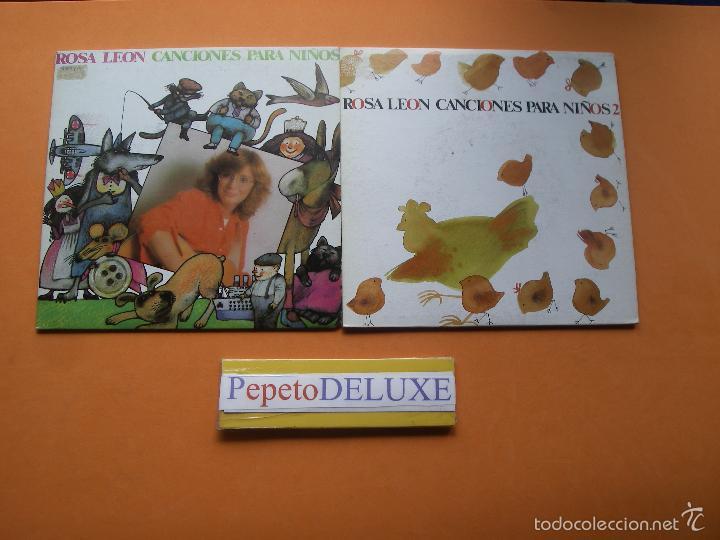 ROSA LEON (2 EP) CANCIONES PARA NIÑOS.Nº 1&2 EPS 1987 PDELUXE (Música - Discos de Vinilo - EPs - Solistas Españoles de los 70 a la actualidad)