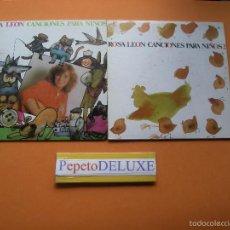 Discos de vinilo: ROSA LEON (2 EP) CANCIONES PARA NIÑOS.Nº 1&2 EPS 1987 PDELUXE. Lote 57416379