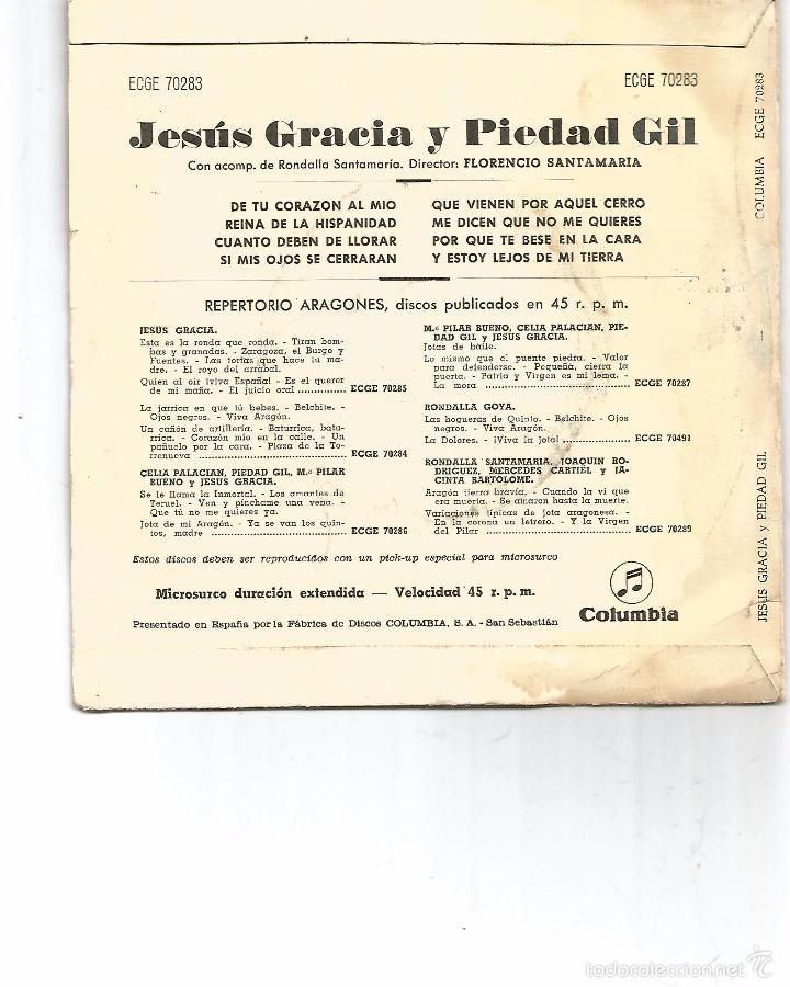 Discos de vinilo: JOTAS ARAGONESAS POR PIEDAD GIL Y JESUS GRACIA - Foto 2 - 57068575