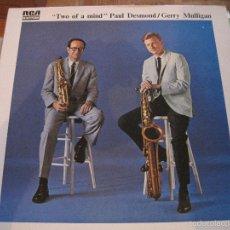 Discos de vinilo: LP-PAUL DESMOND / GERRY MULLIGAN TWO OF A MIND RCA 7311 FRANCE 197??? GATEFOLD JAZZ. Lote 131232596