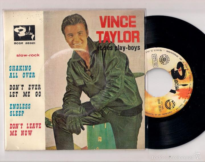 VINCE TAYLOR: SHAKING ALL OVER + DON´T EVER LET ME GO+2, EDICIÓN ESPAÑOLA (Música - Discos de Vinilo - EPs - Rock & Roll)