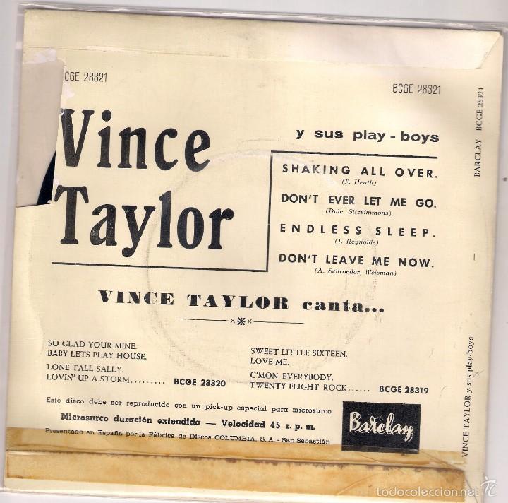 Discos de vinilo: VINCE TAYLOR: SHAKING ALL OVER + DON´T EVER LET ME GO+2, EDICIÓN ESPAÑOLA - Foto 2 - 57070168