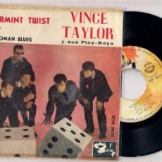 Discos de vinilo: VINCE TAYLOR: PEPPERMINT TWIST + RIT IT UP +2, EDICIÓN ESPAÑOLA. Lote 57072084