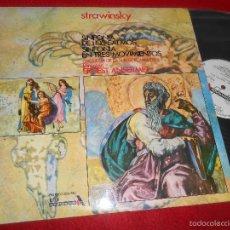 Discos de vinilo: ORQUESTA SUISSE ROMANDE DIR;ERNEST ANSERMET STRAWINSKY SINFONIA SALMOS+3 MOVIMIENTOS LP 1972 PROMO. Lote 57077346