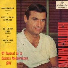 Discos de vinilo: RAMON CALDUCH - FESTIVAL CANCION MEDITERRANEA, EP, MONTSERRAT + 3, AÑO 1964. Lote 57080815
