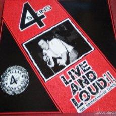Discos de vinilo: 4 SKINS LIVE AND LOUD GBH, SEX PISTOLS G.B.H.,ANGELIC UPSTARTS,UK SUBS,VIBRATORS,DECIBELIOS. Lote 57085987