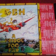 Discos de vinilo: GBH A FRIDGE TOO FAR. Lote 57089265