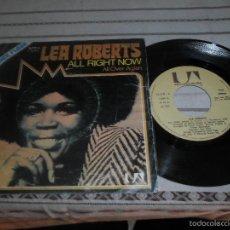 Discos de vinilo: LEA ROBERTS ALL RIGHT NOW. Lote 57089474