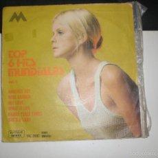 Discos de vinilo: EP TOP 6 HITS MUNDIALES VOL 4 - T. REX / G. HARRISON / P. MCARTNEY / P. ANKA + 2 - AVENUE 1971 VG+. Lote 57091356