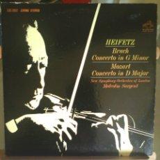 Discos de vinilo: DISCO DE VINILO HEIFETZ: BRUCH / MOZART / COND.: MALCOLM SARGENT (USA, 1963). Lote 57094459