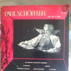 Discos de vinilo: DISCO DE VINILO PAUL SCHÖFFLER CANTA ARIAS DE OPERA(AMADEO ALC 6010, INDUSTRIA ARGENTINA. SIN FECHA). Lote 57094819