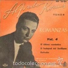 Discos de vinilo: ALFREDO KRAUS: (ROMANZAS DE ZARZUELAS, 4): EL ULTIMO ROMANTICO / EL HUESPED DEL SEVILLANO / KATIUSKA. Lote 57095601