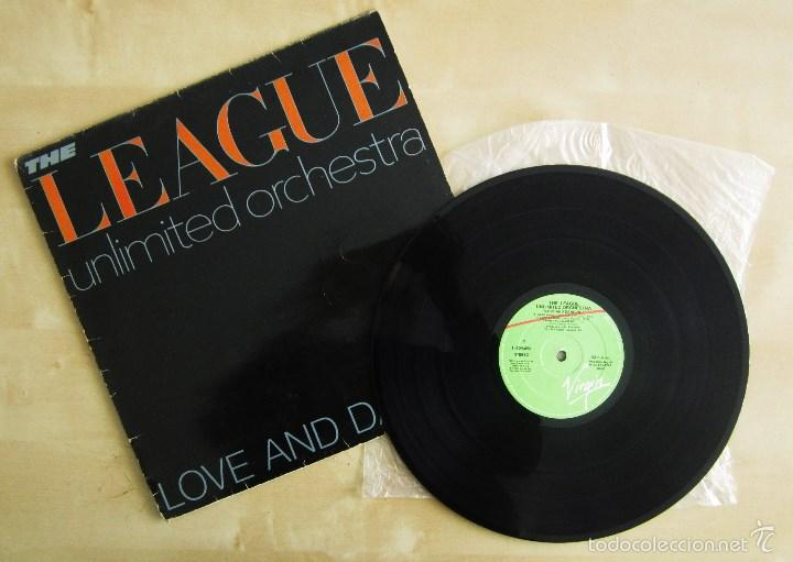 THE LEAGUE UNLIMITED ORCHESTRA - LOVE AND DANCING - VINILO ORIGINAL 1982 EDICION VIRGIN (Música - Discos de Vinilo - EPs - Pop - Rock Extranjero de los 90 a la actualidad)