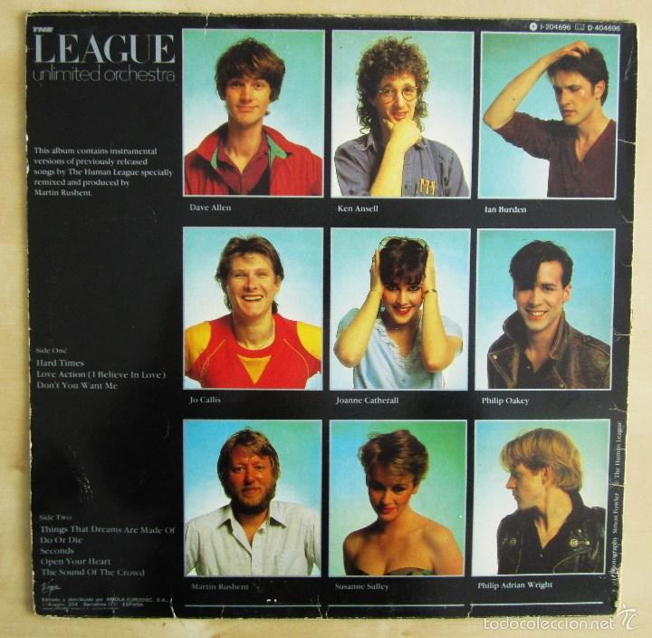 Discos de vinilo: THE LEAGUE UNLIMITED ORCHESTRA - LOVE AND DANCING - VINILO ORIGINAL 1982 EDICION VIRGIN - Foto 3 - 57102948