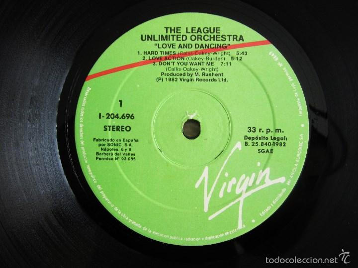 Discos de vinilo: THE LEAGUE UNLIMITED ORCHESTRA - LOVE AND DANCING - VINILO ORIGINAL 1982 EDICION VIRGIN - Foto 5 - 57102948