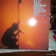 Disques de vinyle: U2 LIVE UNDER A BLOOD RED SKY GALLETA MORADA. Lote 57107484