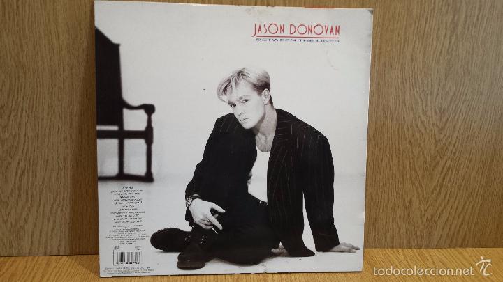 Discos de vinilo: JASON DONOVAN. BETWEEN THE LINES. LP / EPIC - 1990 / MBC. ***/*** - Foto 2 - 57110238