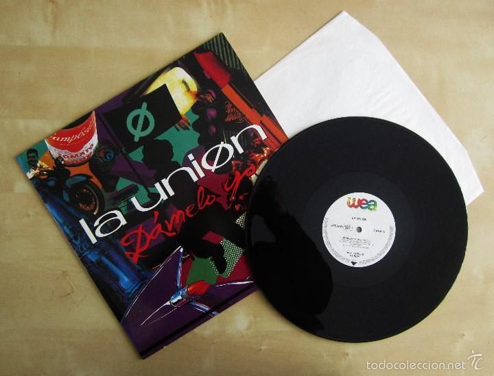 LA UNION - DAMELO YA - MAXI VINILO ORIGINAL 1991 PRIMERA EDICION WEA WARNER MUSIC (Música - Discos de Vinilo - Maxi Singles - Grupos Españoles de los 70 y 80)
