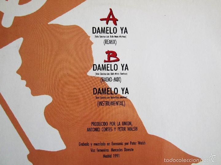 Discos de vinilo: LA UNION - DAMELO YA - MAXI VINILO ORIGINAL 1991 PRIMERA EDICION WEA WARNER MUSIC - Foto 4 - 57110844