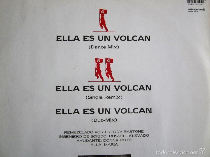 Discos de vinilo: LA UNION - ELLA ES UN VOLCAN - MAXI VINILO ORIGINAL 1990 PRIMERA EDICION WEA WARNER MUSIC - Foto 4 - 57110997