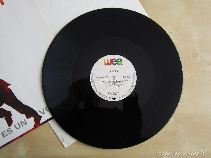 Discos de vinilo: LA UNION - ELLA ES UN VOLCAN - MAXI VINILO ORIGINAL 1990 PRIMERA EDICION WEA WARNER MUSIC - Foto 6 - 57110997