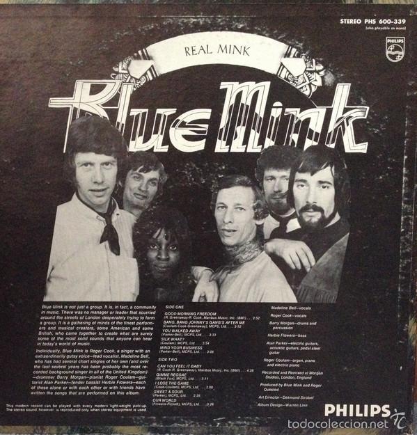 Discos de vinilo: blue mink - real mink 1970 !! 2º lp, madeline bell, roger cook..org edt usa, lp precintado - Foto 2 - 57111827