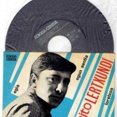 Discos de vinilo: BENITO LERTXUNDI EZ DOK AMAIRU EGIA + 3 EP CINSA EDIGSA 1967 @ COMO NUEVO + HOJA INTERIOR TEXTOS. Lote 57114097
