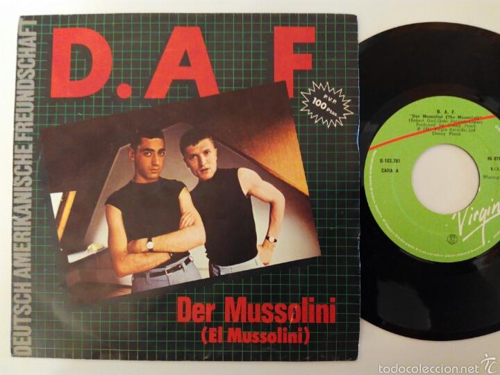 DAF, DER MUSSOLINI/ EL QUE 1982 (Música - Discos de Vinilo - Singles - Pop - Rock Extranjero de los 80)