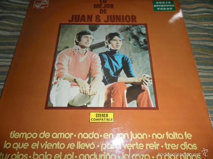JUAN & JUNIOR - LO MEJOR DE LP - EDICION ESPAÑOLA - ZAFIRO RECORDS 1972 - STEREO- (Música - Discos - LP Vinilo - Grupos Españoles 50 y 60)