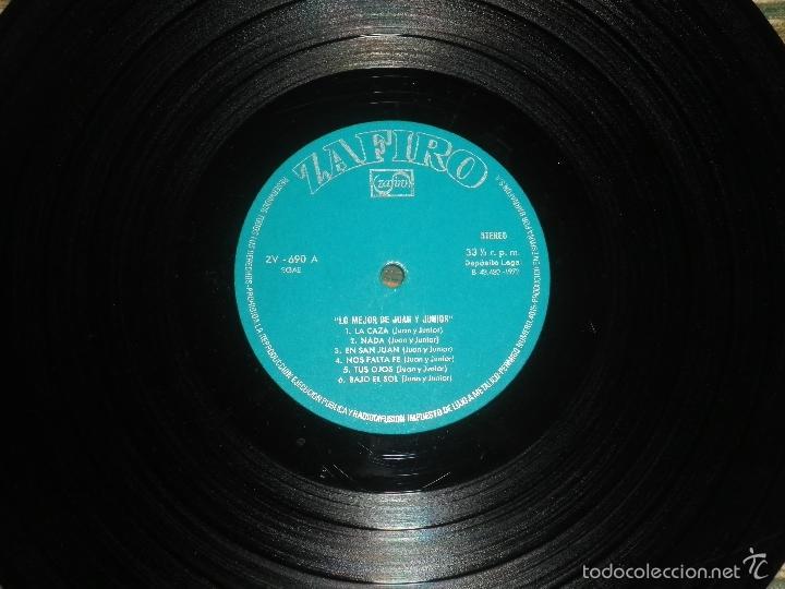 Discos de vinilo: JUAN & JUNIOR - LO MEJOR DE LP - EDICION ESPAÑOLA - ZAFIRO RECORDS 1972 - STEREO- - Foto 9 - 57115564