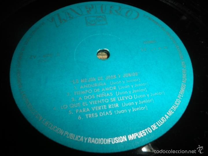 Discos de vinilo: JUAN & JUNIOR - LO MEJOR DE LP - EDICION ESPAÑOLA - ZAFIRO RECORDS 1972 - STEREO- - Foto 12 - 57115564