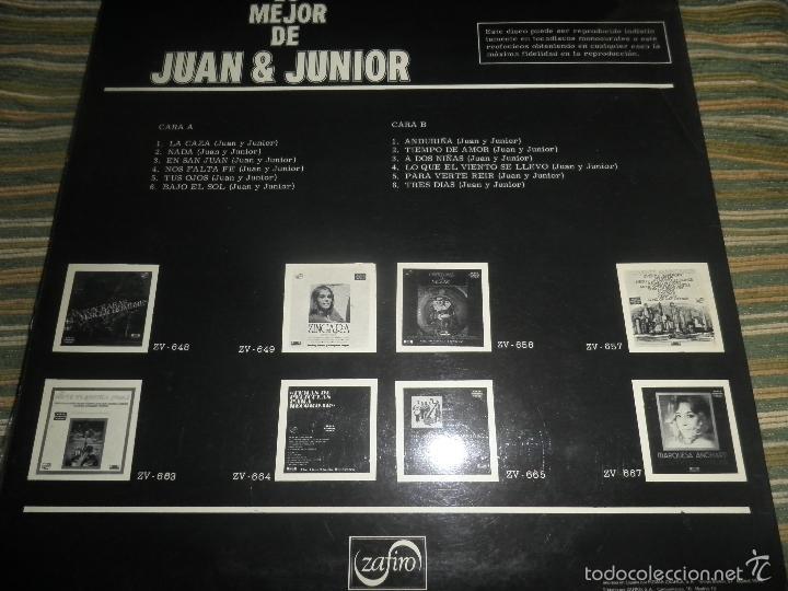 Discos de vinilo: JUAN & JUNIOR - LO MEJOR DE LP - EDICION ESPAÑOLA - ZAFIRO RECORDS 1972 - STEREO- - Foto 16 - 57115564