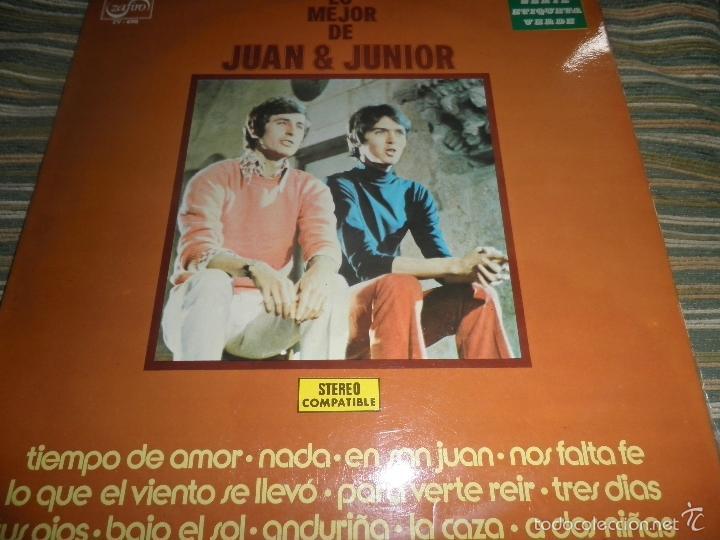Discos de vinilo: JUAN & JUNIOR - LO MEJOR DE LP - EDICION ESPAÑOLA - ZAFIRO RECORDS 1972 - STEREO- - Foto 17 - 57115564