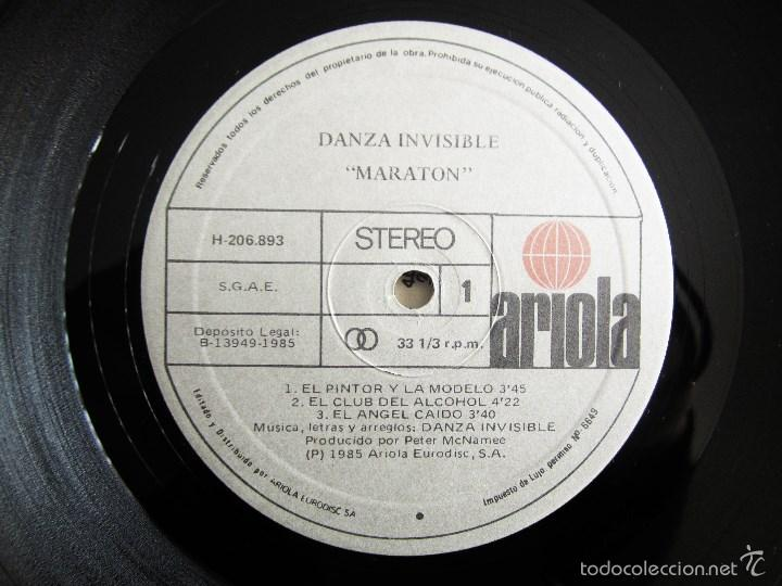 Discos de vinilo: DANZA INVISIBLE - MARATON - MINI LP EN VINILO ORIGINAL 1985 ARIOLA PRIMERA EDICION - Foto 9 - 57116767
