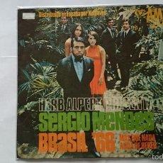 Discos de vinilo: SERGIO MENDES & BRASIL '66 - MAIS QUE NADA (JORGE BEN) / AGWA GEE BEBERR (AGUA DE BEBER) (1966) . Lote 57130436